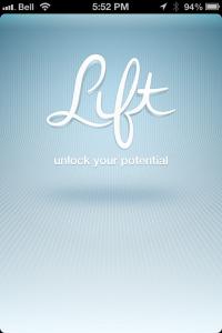 Lift App Home Screen
